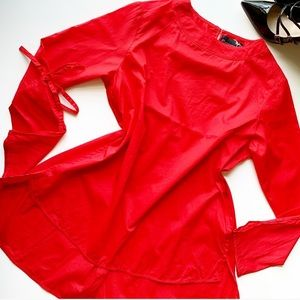 NWT OUTFITTERS BASICS High Low Red Top